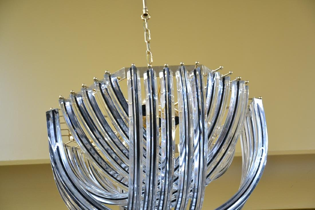 MODERN ARCHED MURANO GLASS CHANDELIER - 7