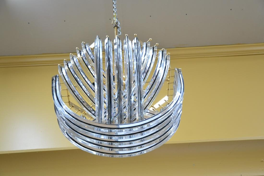 MODERN ARCHED MURANO GLASS CHANDELIER - 8