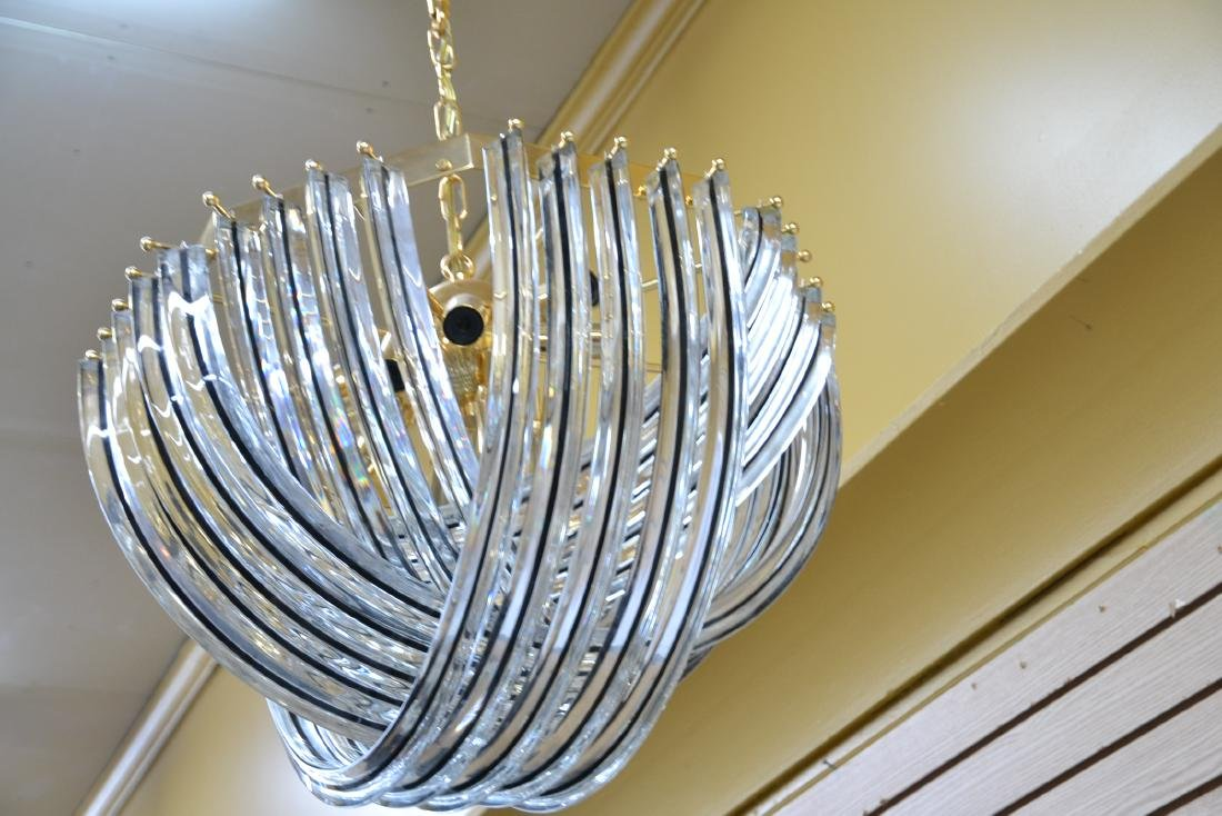 MODERN ARCHED MURANO GLASS CHANDELIER - 9