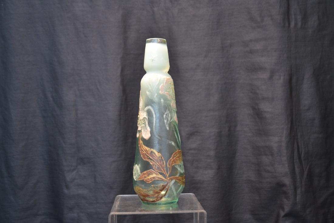 "GALLE ""TEMPUS STELLAE"" ENAMELED ART GLASS VASE - 3"