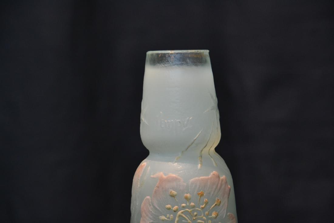 "GALLE ""TEMPUS STELLAE"" ENAMELED ART GLASS VASE - 6"