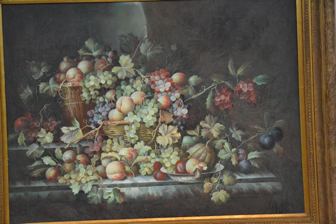 VERY LARGE CONTEMPORARY FRUIT STILL LIFE - 4