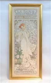 """ALPHONSE MUCHA (1860-1939) """"LA DAME AUX CAMELIAS"""""""