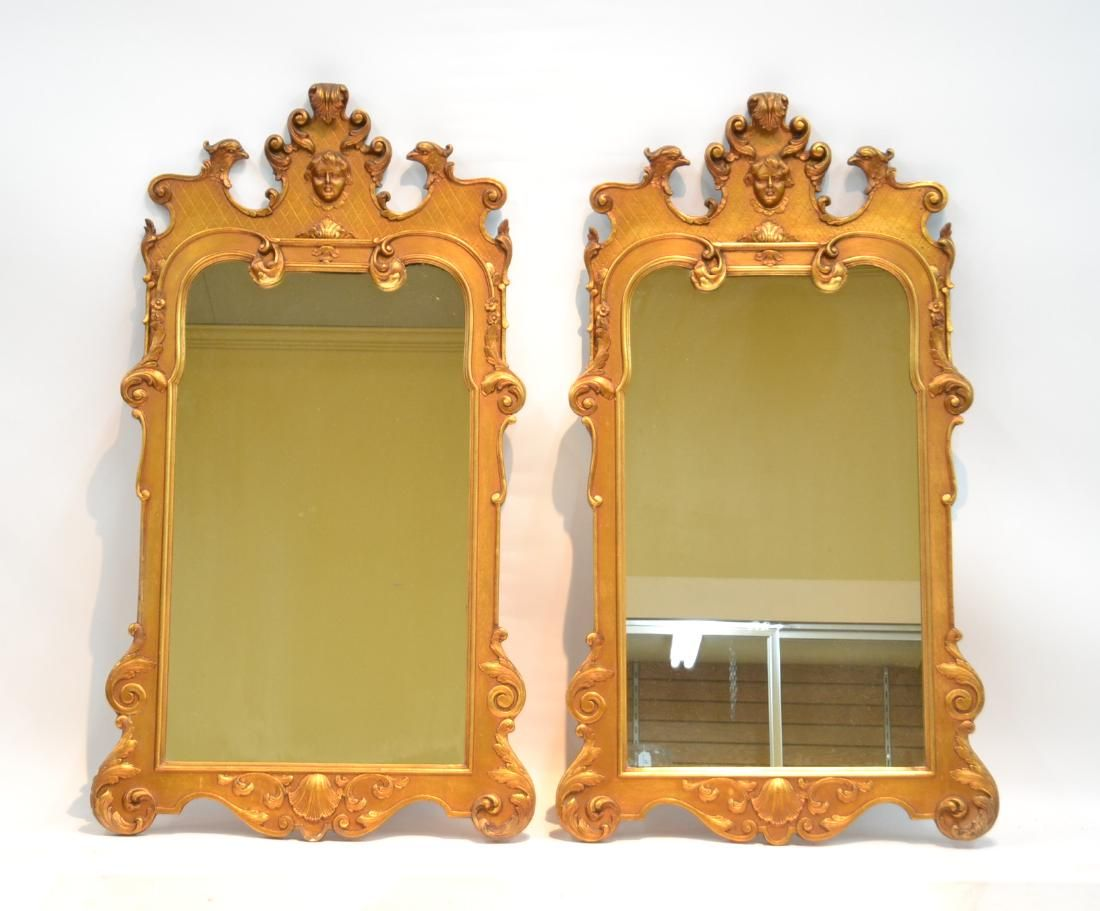 (Pr) CARVED GILTWOOD MIRRORS WITH RAISED