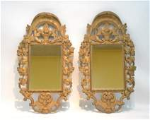 (Pr) ANTIQUE CARVED GILTWOOD MIRRORS