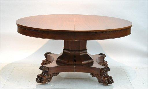 Mahogany Claw Foot Dining Room Table