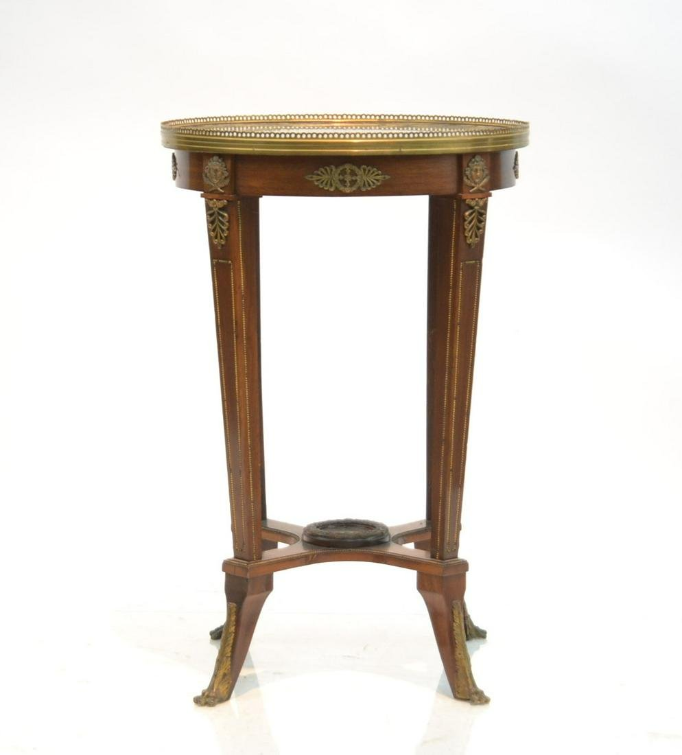 FRENCH STYLE ROUND MARBLE TOP TABLE