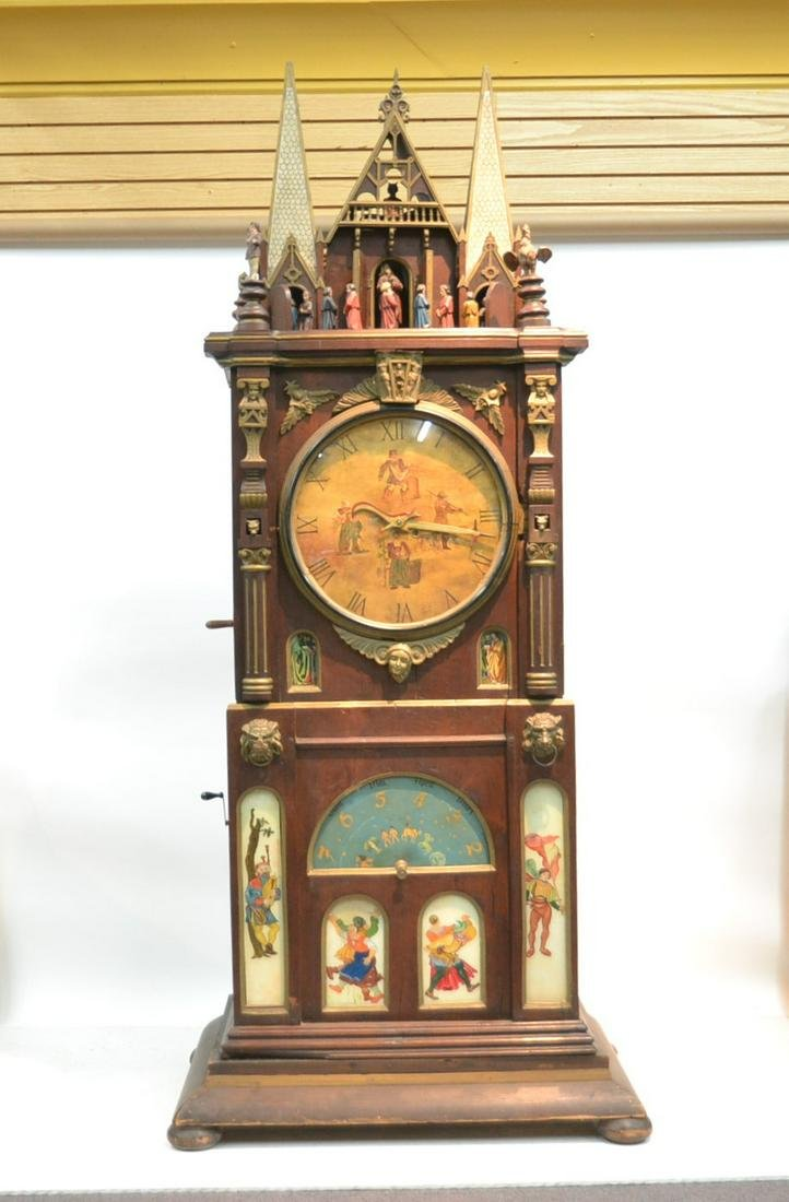 LARGE MID 19thC ASTRONOMICAL CLOCK