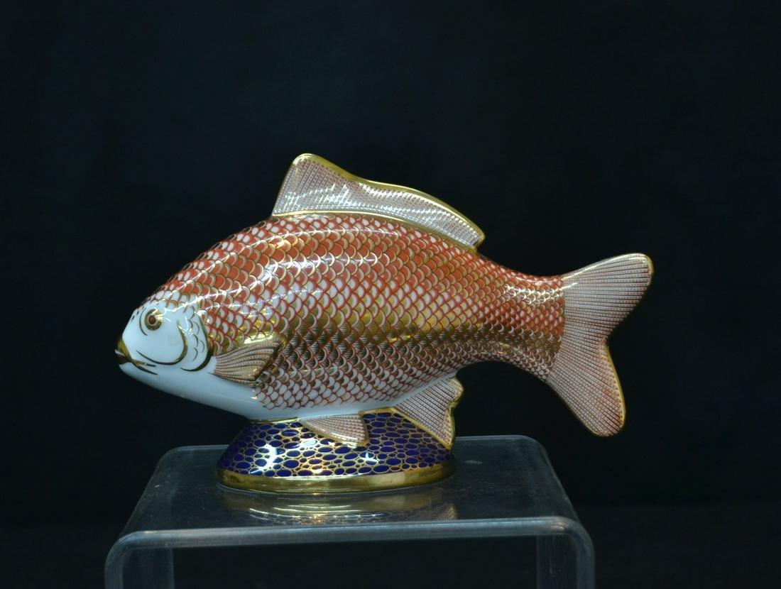 "ROYAL CROWN DERBY FISH - 7 1/2"" x 2"" x 4"""