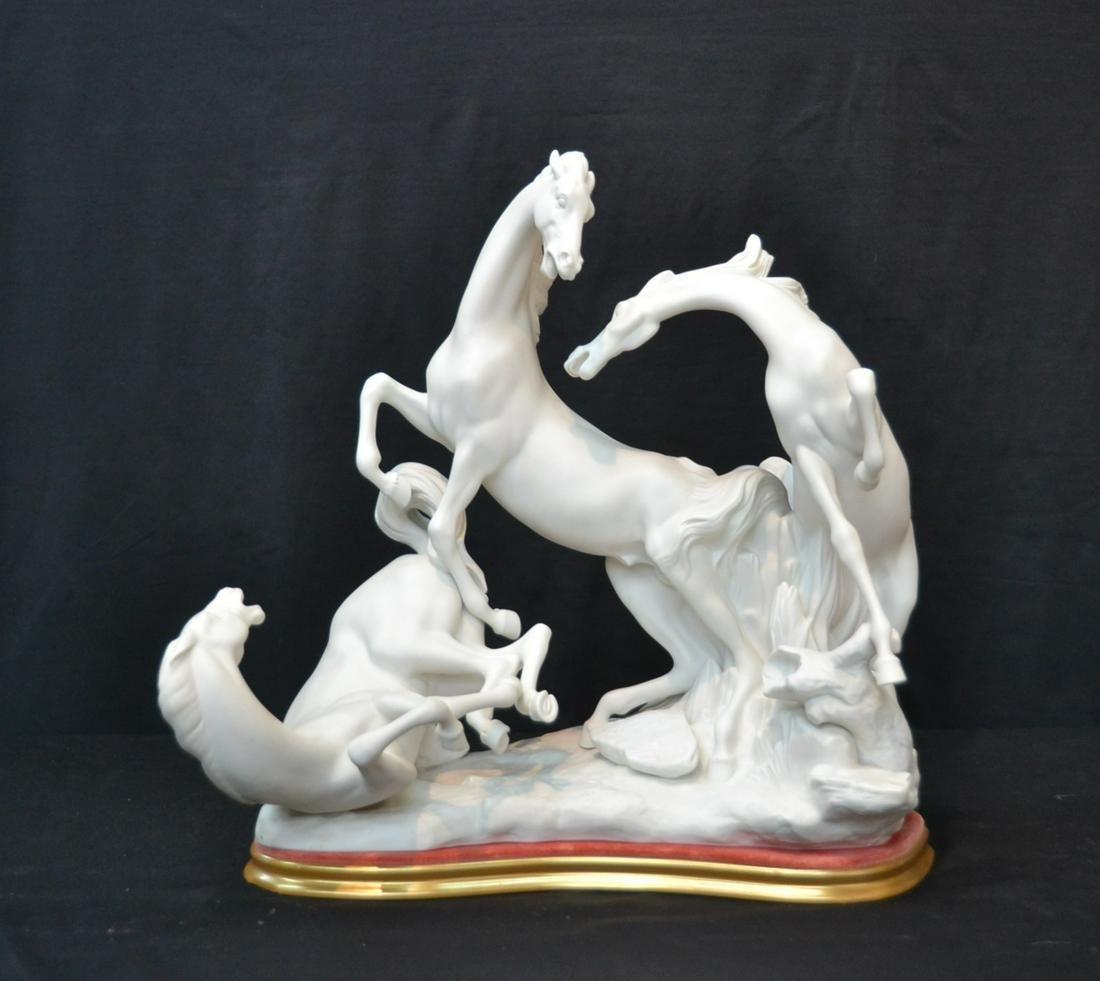 LARGE MATTE FINISH LLADRO HORSE GROUP