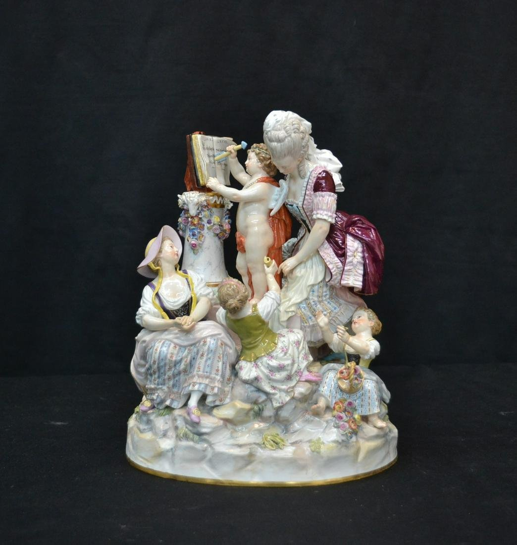 LARGE MEISSEN (7) FIGURE GROUPING WITH