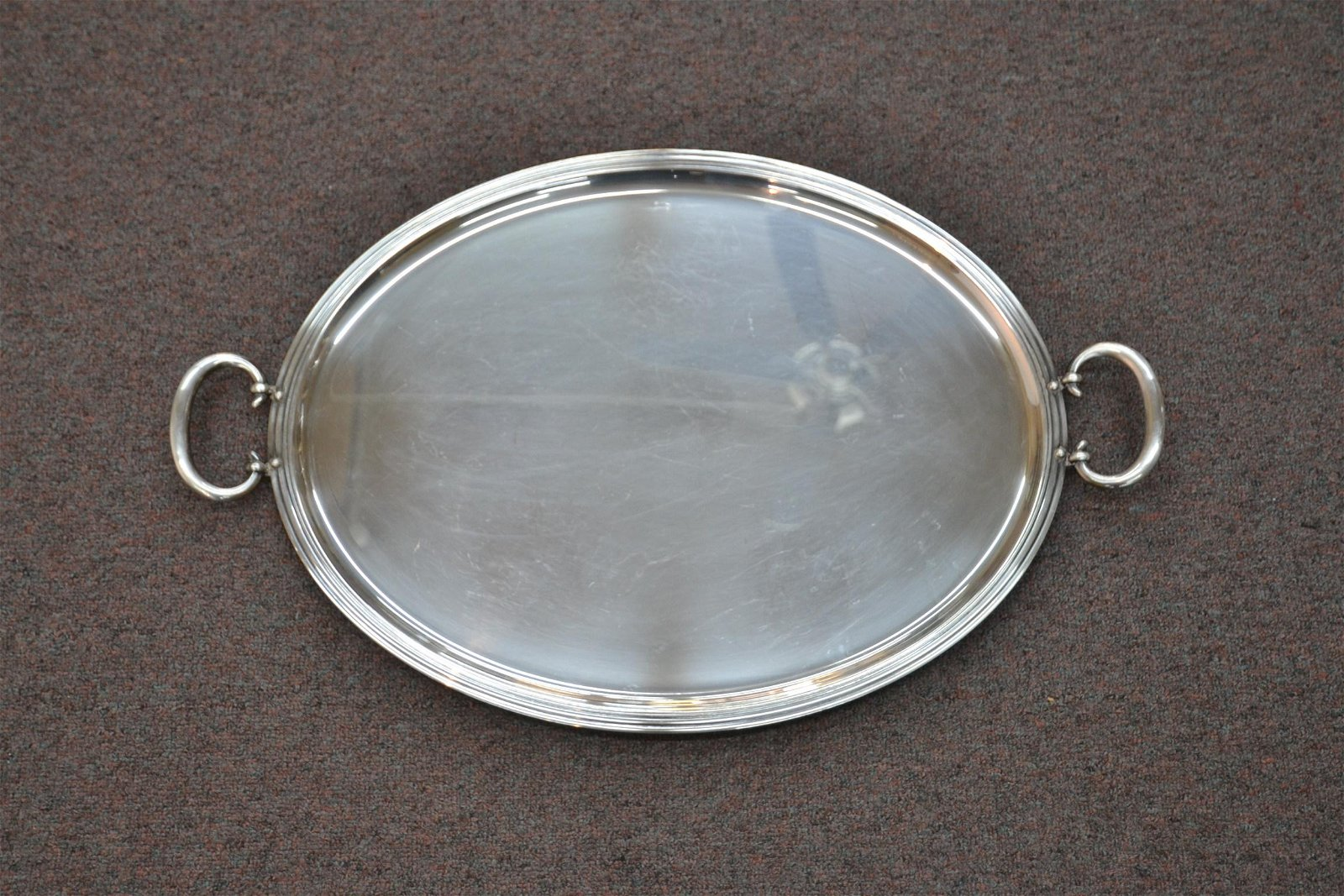 LARGE CHRISTOFLE SILVER PLATE SERVING TRAY