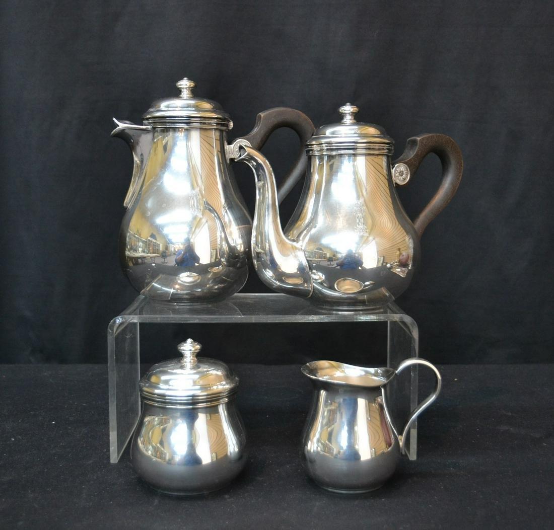 (4)pc CHRISTOFLE SILVER PLATE COFFEE SET