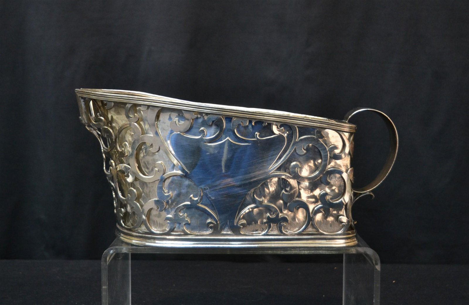 RETICULATED SILVER PLATE CHAMPAGNE BUCKET