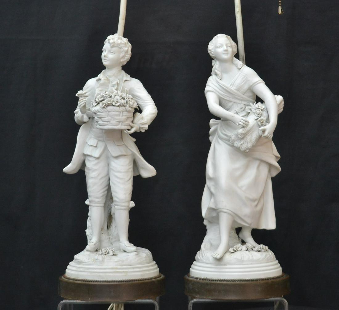 (2) PARIAN PORCELAIN FIGURAL LAMPS