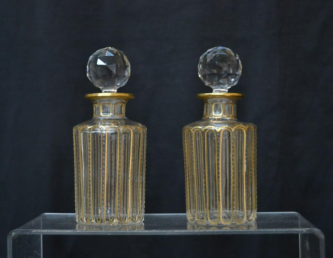 (Pr) VICTORIAN 19thC PERFUME DECANTERS WITH