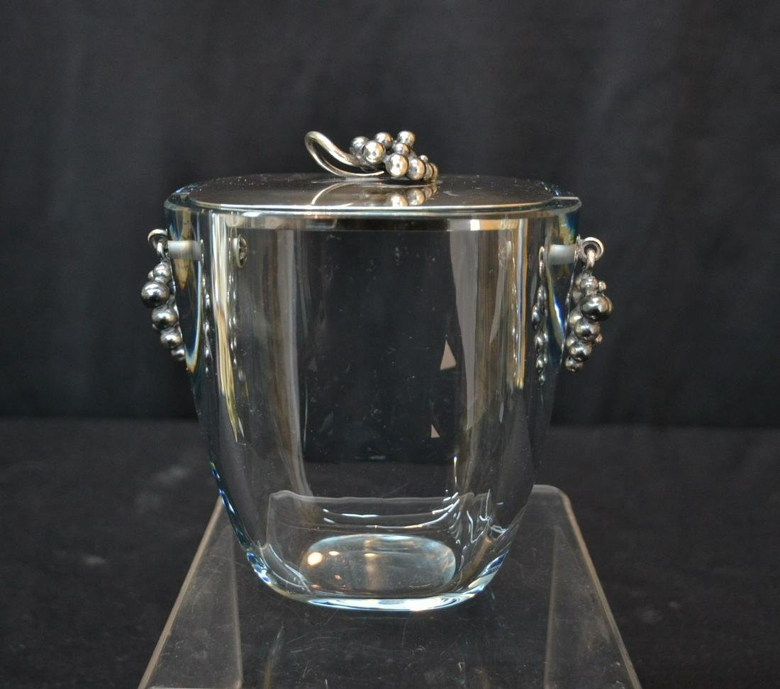 DRAGSTED , DANISH STERLING SILVER & CRYSTAL