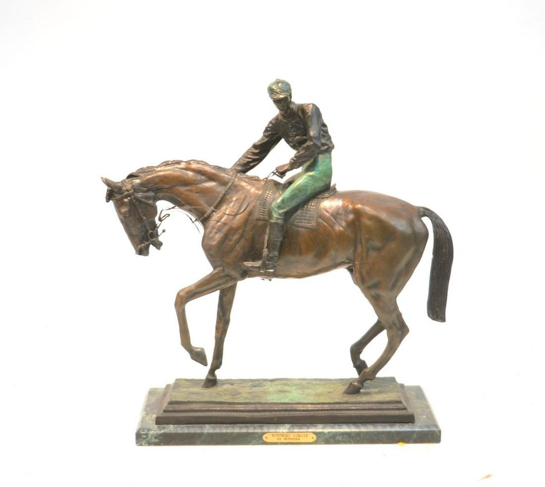AFTER ISADORE BONHEUR COLD PAINTED BRONZE