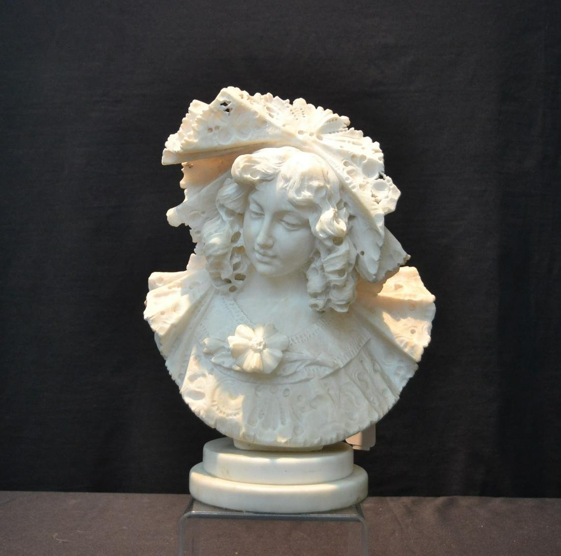 19thC CONTINENTAL MARBLE BUST