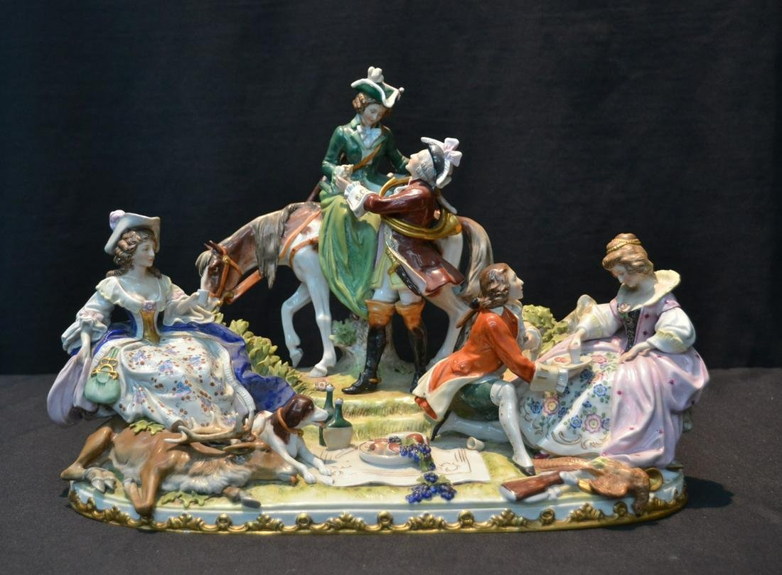 GERMAN PORCELAIN FIGURAL GROUPING