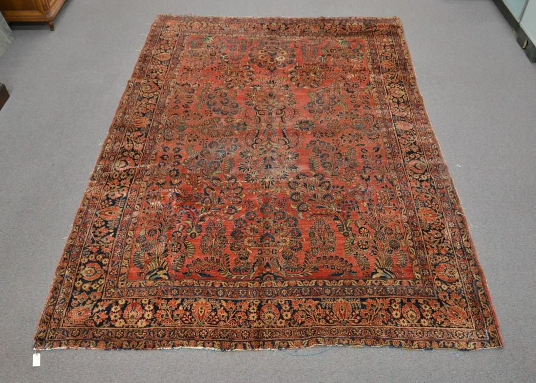ANTIQUE 8' x 12' SAROUK RUG