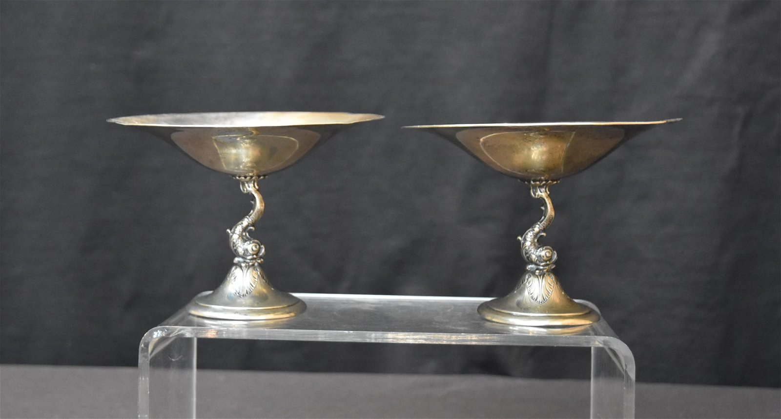 (Pr) W.W. WATTLE & SONS STERLING SILVER COMPOTES