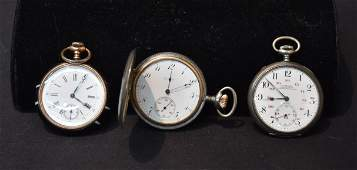 3 ANTIQUE POCKETWATCHES INCLUDING
