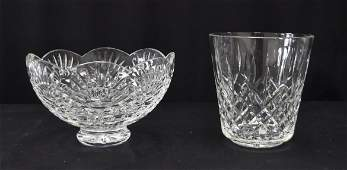 (2) LARGE WATERFORD CRYSTAL PIECES INCLUDING