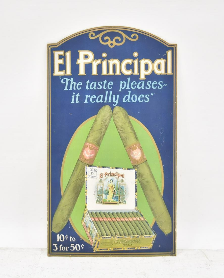 "CIGAR ADVERTISING POSTER ""EL PRINCIPAL"""