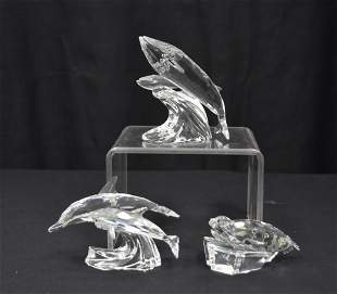 (3) SWAROVSKI CRYSTAL AQUATIC ANIMALS