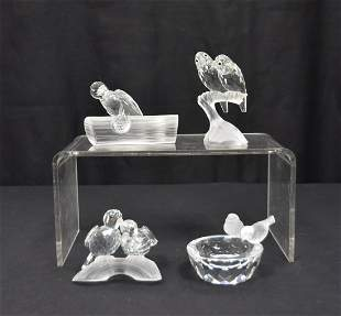 SWAROVSKI CRYSTAL BIRD FIGURINES