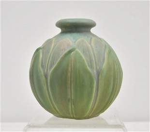 EARLY ROSEVILLE VELMOSS POTTERY VASE