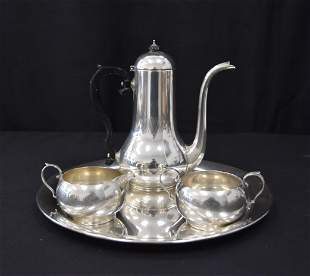 (4)pc GORHAM STERLING SILVER TEA SET
