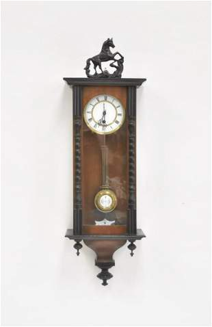 GERMAN VIENNA STYLE REGULATOR WITH HORSE FINIAL