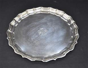 """FRANK SMITH """"CHIPPENDALE"""" STERLING PLATTER"""