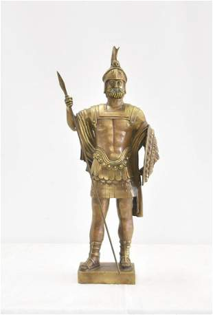 BRONZE SOLDIER WITH SHIELD