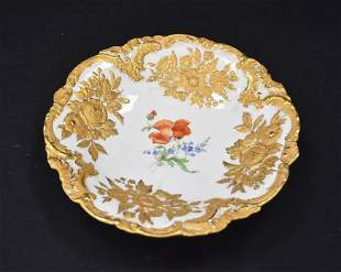 MEISSEN PORCELAIN BOWL WITH FLOWERS