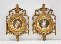 (Pr) ROYAL VIENNA HAND PAINTED CABINET PLATES