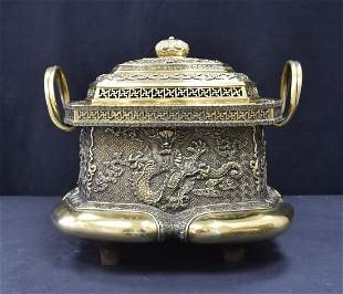 LARGE JAPANESE BRONZE CENSER