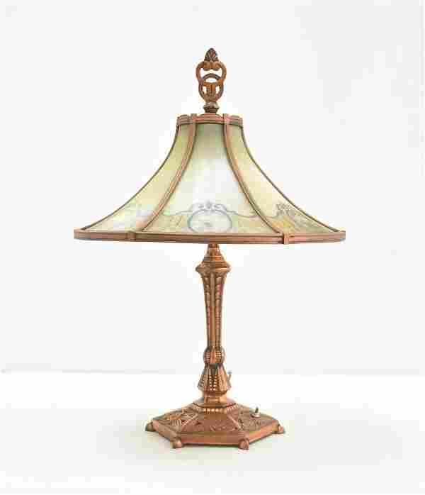 6-PANEL REVERSE PAINTED TABLE LAMP