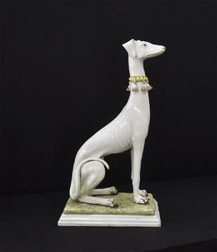 CREAZIONI , ITALIAN CERAMIC WHIPPET DOG