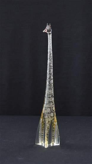 VICKE LINDSTRAND FOR KOSTA BODA ART GLASS GIRAFFE
