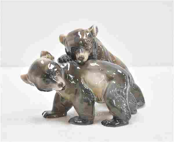 ROSENTHAL BEAR CUBS PLAYING , MODEL 1593