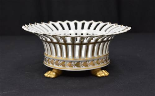 RETICULATED PORCELAIN FOOTED BOWL