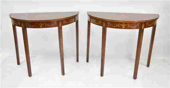 (Pr) INLAID EDWARDIAN STYLE CONSOLE TABLES