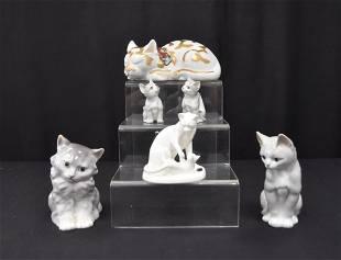 (6) JAPANESE PORCELAIN CATS