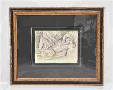 AFTER HENRI MATISSE , RECLINING NUDE LITHOGRAPH
