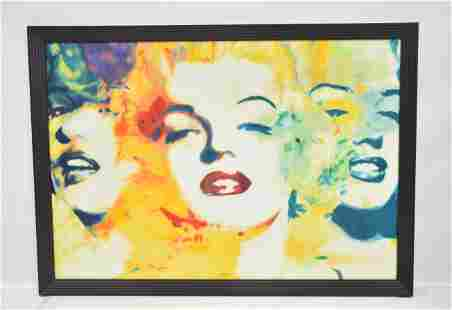 JAMES GILL , LARGE OIL ON CANVAS MARILYN MONROE