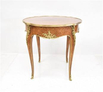 FRENCH STYLE BRONZE MOUNTED TABLE