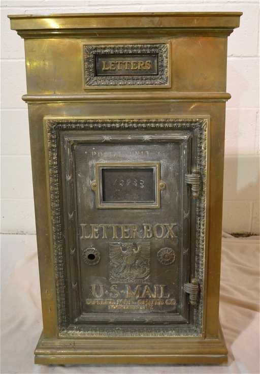 284: BRONZE U.S. MAIL LETTER BOX BY CUTLER MAIL